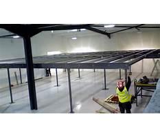 Building a mezzanine for storage timelapse Plan