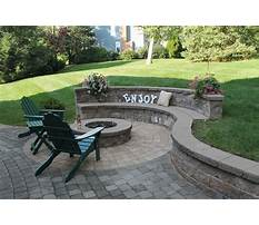 Building a paver patio and firepit Plan