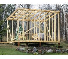 Building a shed roof Plan
