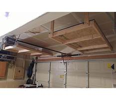 Building a shelf above the garage door Plan