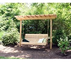 Building an arbor with a swing Plan