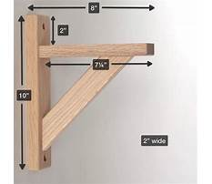 Building garage shelving with angled bracing Plan