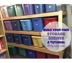 Building shelves for plastic totes Plan