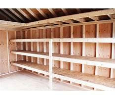 Building shelves for shed Plan