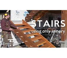 Building wood stairs with no nails Plan