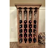 Built in cabinet wine rack Plan