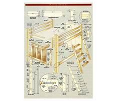 Bunk bed building materials Plan