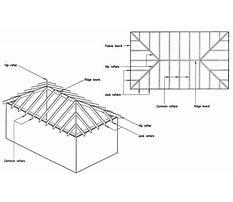 Cabin plans hip roof Plan