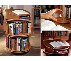 Carousel bookcases wood Plan