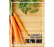 Carrot diet for pms Plan