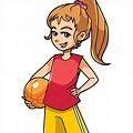 Cartoon Girls Basketball