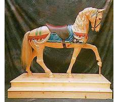 Carved wood horse life size Plan