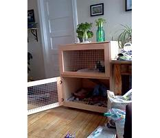 Cheap indoor rabbit hutch diy Plan