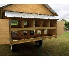 Chicken houses on wheels Plan