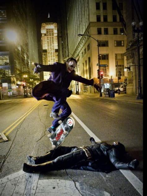 Christian Bale Heath Ledger Skateboard