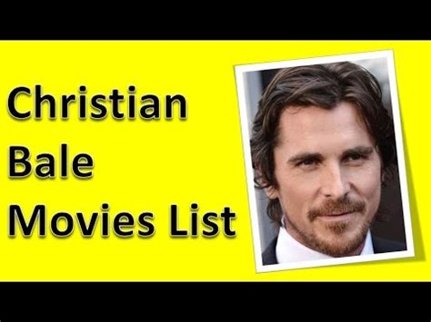 Christian Bale Movies List