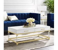 Chrome and white designer coffee table Plan