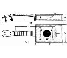Cigar box instrument plans Plan