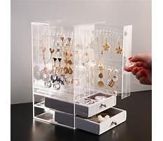 Clear jewelry box organizer Plan