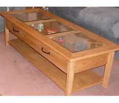 Coffee table glass top display drawer Plan