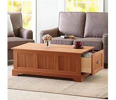 Coffee table with storage Plan
