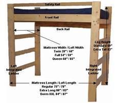 College loft bed plans Plan