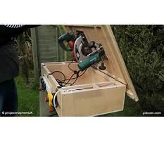 Como hacer un banco de madera para sierra circular Plan