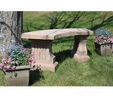 Concrete garden benches clearance Plan