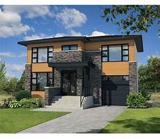 Contemporary house plans for narrow lots Plan