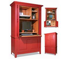 Corner computer armoire free Plan