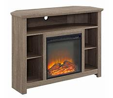 Corner fireplace tv stand target Plan