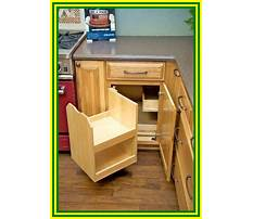 Corner kitchen cabinet organizer Plan