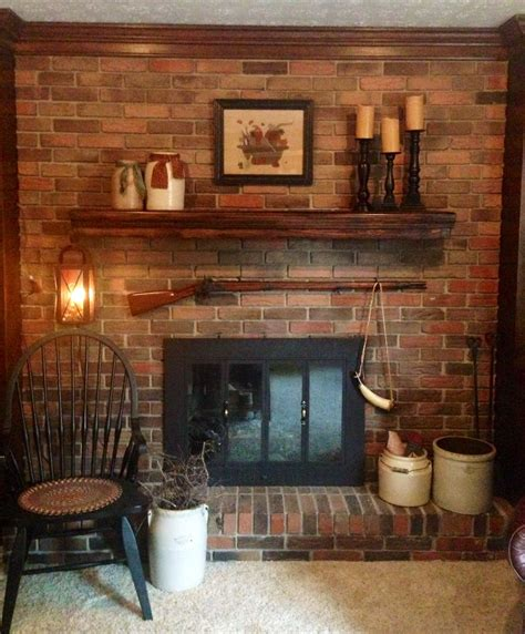 Country Primitive Fireplace Ideas