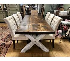 Country dining room table plans Plan