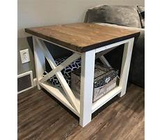 Country rustic end tables Plan