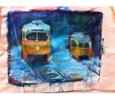 Craft painting on slate Plan