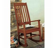 Craftsman style chair Plan