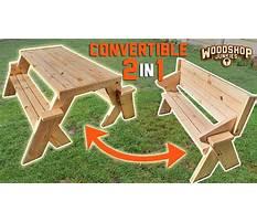Crazy cool picnic table garden bench Plan