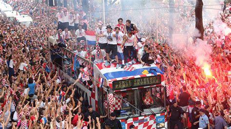 Croatia Soccer Celebration