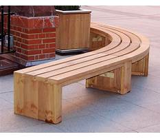 Curved bench Plan