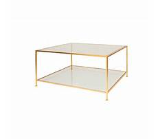 Cut corner coffee table mirror gold Plan