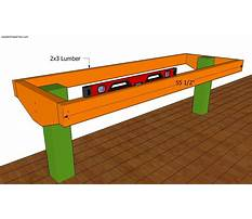 Deck bench plans Plan