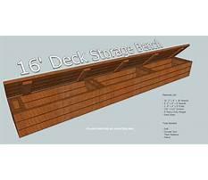 Deck storage bench seat Plan
