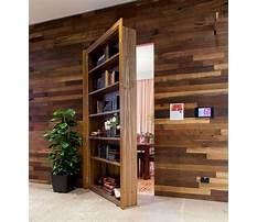 Decorative bookcase with doors Plan