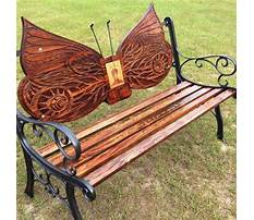Decorative wood benches Plan