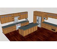 Design kitchen cabinets with sketchup Plan