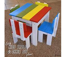 Desk and chair kids Plan