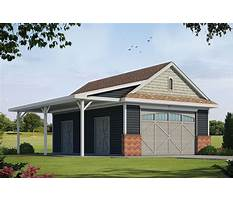 Detached garage plans with covered porch Plan