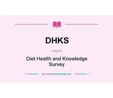 Diet health and knowledge survey Plan