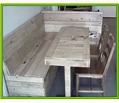 Dining table bench seat with storage Plan